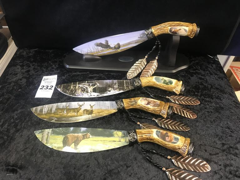4 Wildlife Collection Knives 2016