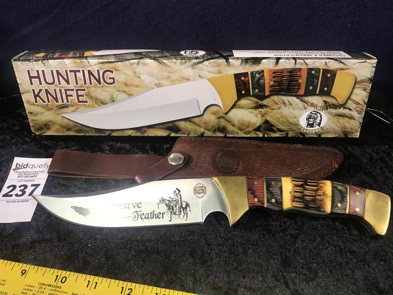 Brave Feather Hunting Knife