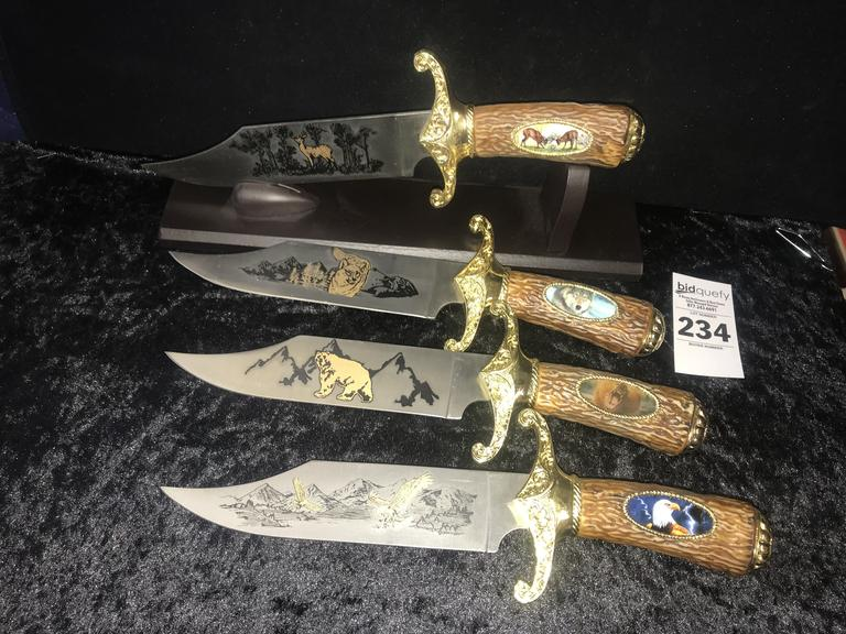 4 Wildlife Collection Knives